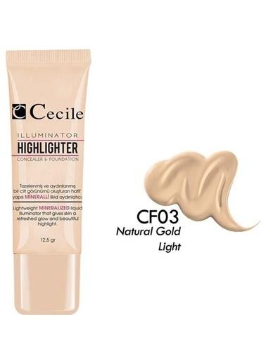 Cecile Doğal Işığı Göz Altı Kapatıcısı Ve Fondöten Cf03 Renksiz